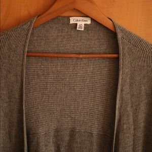 Calvin klein grey cardigan
